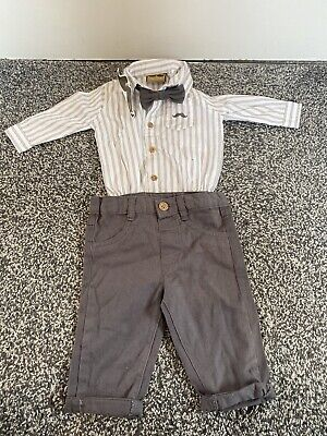 £9.99 • Buy Little Gent Baby Boys Outifit Bow Tie Shirt Smart 0-3 Months New With Tags