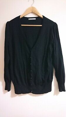 £2.20 • Buy M&S Black Button Up Cardigan Size 20