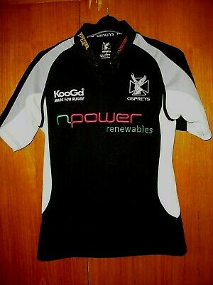£6.99 • Buy Ospreys Rugby Union Football Jersey Shirt Black Npower Size Small S 36/38