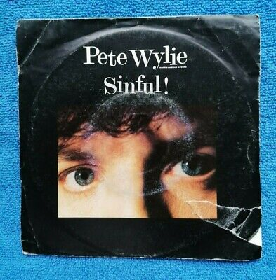 £0.99 • Buy Pete Wylie – Sinful! 7  Vinyl Single 1980s Cleaned And Played