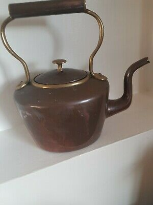 £10 • Buy Large Vintage Copper And Brass Kettle