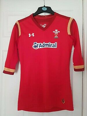 £23 • Buy UNDER ARMOUR ADMIRAL WRU WALES RUGBY TOP Size Small/Medium