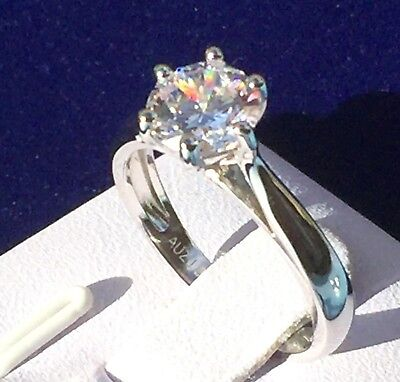 AU88 • Buy Engagement Ring: 1.25ct Simulated Diamond Engagement Ring 925 Sterling Silver