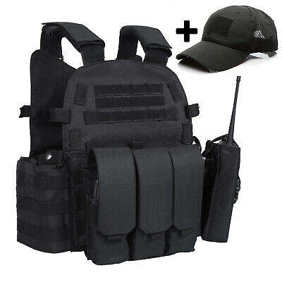 $45.99 • Buy Military Tactical Vest Molle 8x10inch Plate Carrier Combat Assault Hunting Vest