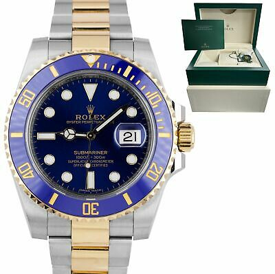 $ CDN18800.23 • Buy Rolex Submariner Date Ceramic Two-Tone Stainless Gold Blue Watch 116613 LB BOX