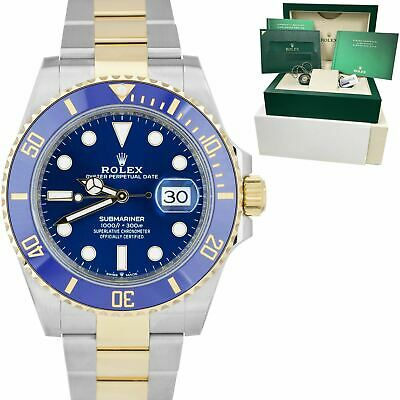 $ CDN23503.01 • Buy NEW 2021 Rolex Submariner Date 41mm Ceramic Two-Tone Gold Blue Watch 126613 LB