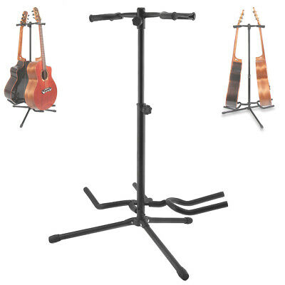 $ CDN35.64 • Buy Guitar Stand Aluminum Alloy Floor Double Holder For Display Acoustic Electric