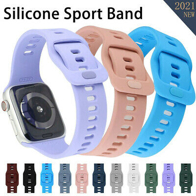 $ CDN6.91 • Buy New Silicone Band Strap For Apple Watch IWatch Series 6/5/4/3/2/1/44/40 38mm SE