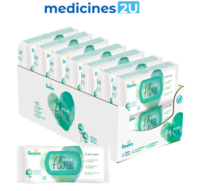 £29.99 • Buy PAMPERS AQUA PURE BABY WIPES - 14 Packs Of 48 Wipes