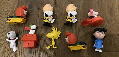 £0.99 • Buy 9 Mcdonalds Snoopy Charlie Brown Peanuts Happy Meal Toys 2015 Woodstock Lucy