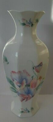 £5 • Buy Aynsley, Fine Bone China Butterfly And Floral Vase 9 Inches,  Little Sweetheart