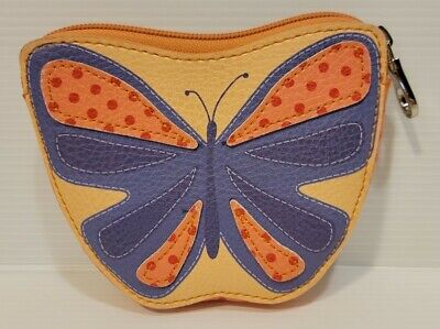 $9.30 • Buy Relic By Fossil Zip Coin Purse Wallet Butterfly And Polka Dots W/Key Ring