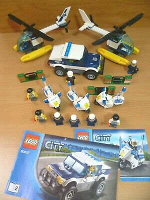 £12.95 • Buy Lego City Police Sets 60041 Motorcycles & Helicopters ATV Car Minifigures Bundle