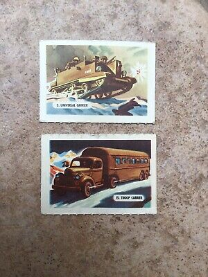 £0.99 • Buy Kelloggs Trading Cards - 2 From Vehicles Of War Series Of 15 - 1945
