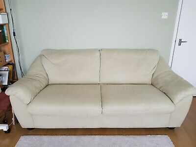 £200 • Buy Ikea Sofa Bed Used 3 Seater Light Green Microfibre Fabric Feels Like Suede