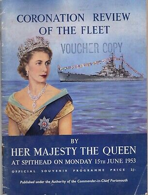 £4 • Buy Coronation Review Of The Fleet By Her Royal Majesty The Queen 1953.Souvenir Prog