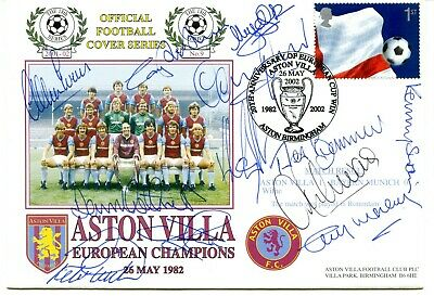 £75 • Buy 1982 ASTON VILLA EUROPEAN CUP WINNERS POSTAL COVER SIGNED X12 VGC With COA.