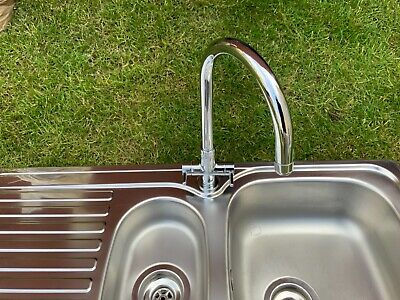 £100 • Buy Leisure Linear Stainless Steel Kitchen Sink With Rangemaster Chrome Mixer Tap