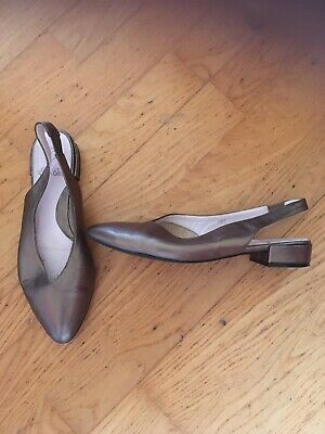 £20 • Buy Ladies Sole Bliss Bronze Leather Sling Back Shoes  5.5