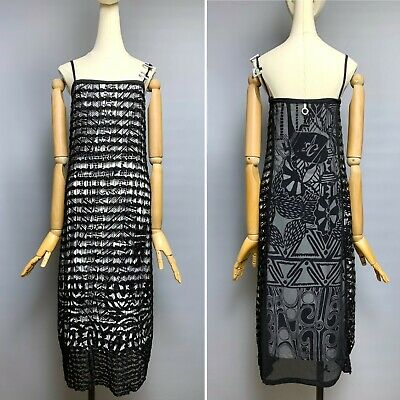 AU171.76 • Buy SAVE THE QUEEN Mesh Sleeveless Dress Size M Stretchy Lined Black White Printed