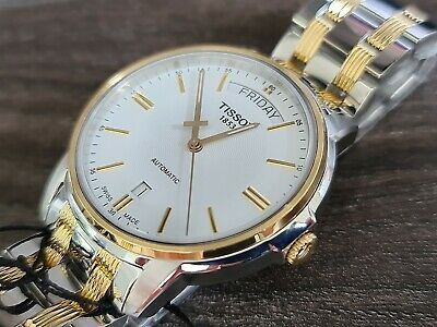 £369 • Buy Mens Tissot Automatic Gold Plated And Steel New With Box And Papers