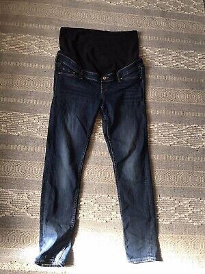 £2 • Buy H&M Mama Size 18 Over The Bump Maternity Skinny Jeans