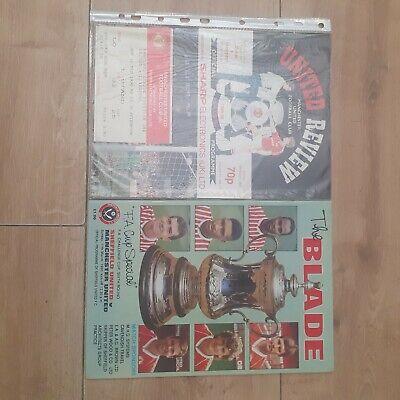 £3 • Buy Manchester United Programmes And Ticket 1989/90 ×2 Bulk