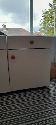 £0.99 • Buy Kitchen Cupboards, B&Q Under-counter Carcases With Doors And Drawer. 2 To Sell.