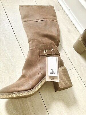 £15 • Buy Knee Length Size 8 Brown Boots Bnwt
