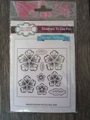 £1.75 • Buy Creative Expressions Stamp Set Shaded Peony