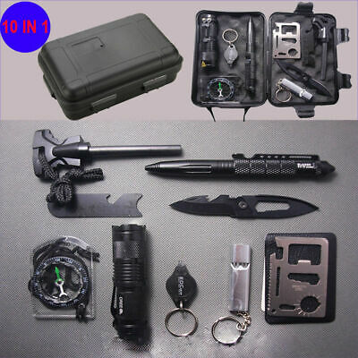 $6.50 • Buy 10 In 1 Survival Outdoor Camping Gear Kits Military Tactical Emergency EDC Tool