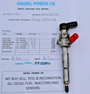 £85 • Buy Ford Transit Connect Galaxy 1.8 Tdci - Fuel Injector 7t1q-9f593-ab