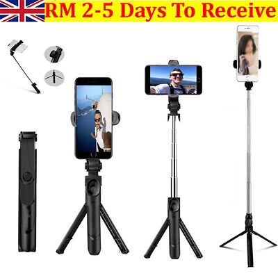 £8.98 • Buy Telescopic Selfie Stick Bluetooth Tripod Monopod Phone Holder For IOS Android