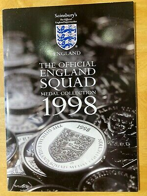 £8.99 • Buy Sainsburys ENGLAND FOOTBALL SQUAD Medal Collection World Cup 1998 - Complete