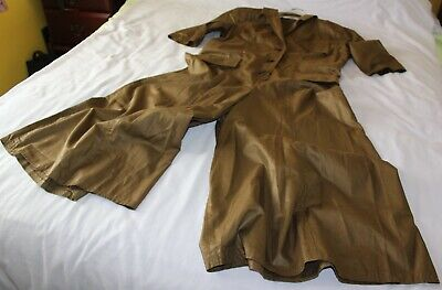 £33 • Buy Ladies Trousers Suit. Brown/Green Colour. V Neck. Button Front. Size 12. New