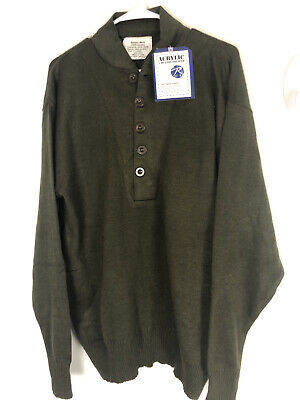 $35 • Buy GI Style 5 Button Acrylic Sweaters Vintage Classic Military Style Rothco Sz XL
