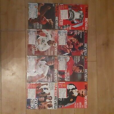 £13 • Buy Manchester United Programmes And Tickets 2002/03 ×8