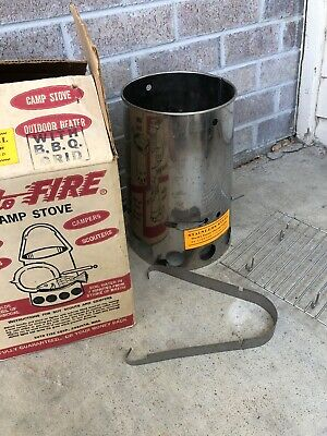 $ CDN31.35 • Buy Auto Fire Bug Charcoal Lighter Boy Scout Camp Stove Heater Weber Grill Vtg