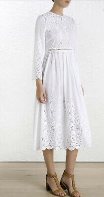 $183.03 • Buy Zimmermann BNWT Ticking Broderie Anglaise Dress Size 2