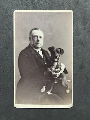 £6.95 • Buy Victorian Carte De Visite CDV: Gent With Short Haired Dog Jack Russell?