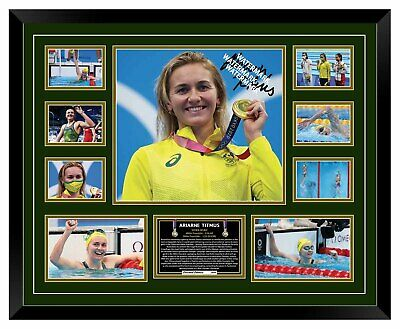 AU99.99 • Buy Ariarne Titmus Golden Double Tokyo Signed Limited Edition Framed Memorabilia