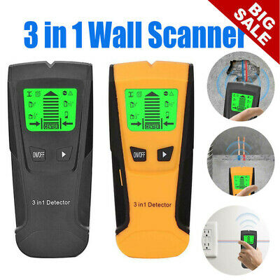 £8.89 • Buy 3 In 1 LCD Wall Stud Center Finder Metal Live Wire Detector Wood Copper Scanner