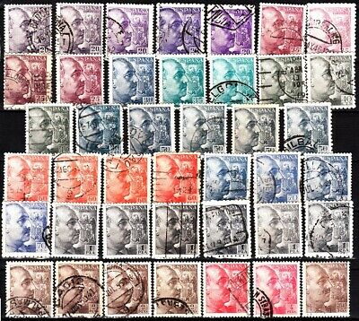 £1.97 • Buy SPAIN 1939-53 General Franco. 41v With Dupes / Color Shades / Perforation, Used