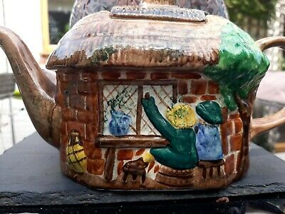 £5.90 • Buy Tony Wood,staffordshire-vintage Novelty Collectable Teapot- Thatched Cottage-vgc