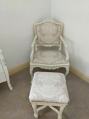 £100 • Buy French Style Chair And Footstool .
