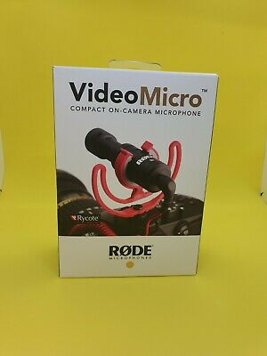 £35 • Buy Rode VideoMicro Compact On-Camera Microphone With Rycote Lyre Shock Mount #S729