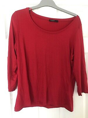 £0.99 • Buy Marks And Spencer Autograph Red Top 3/4 Sleeve Size 16