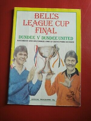 £1 • Buy 1980 Bells Scottish League Cup Final Programme 1980 Dundee V Dundee United