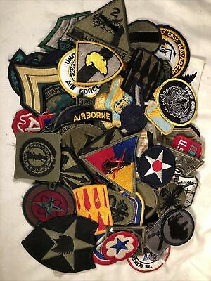 $31 • Buy Vintage Mix Lot Of 75 Military Patches WW2 Army Infantry Air Force Navy Marines