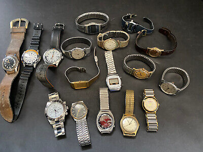 $ CDN83.64 • Buy VIntage Lot Of 17 Men's Watches SEIKO TIMEX SEMCA For Parts Or Repair